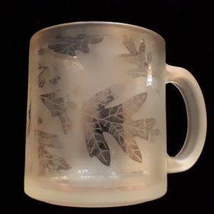 Starbucks RARE Frosted Glass Mug 1990's